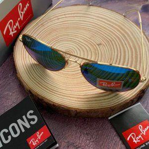 RayBan Gold Frame Blue Lenses 58mm RB3025 AVIATOR